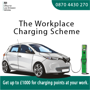 Banner ad for The Workplace Charging Scheme