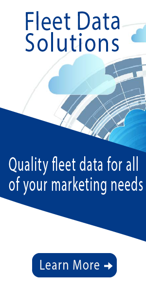 Banner ad for fleet data solutions